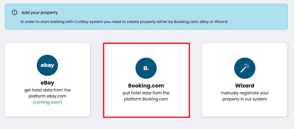 CultBay Import data Booking.com