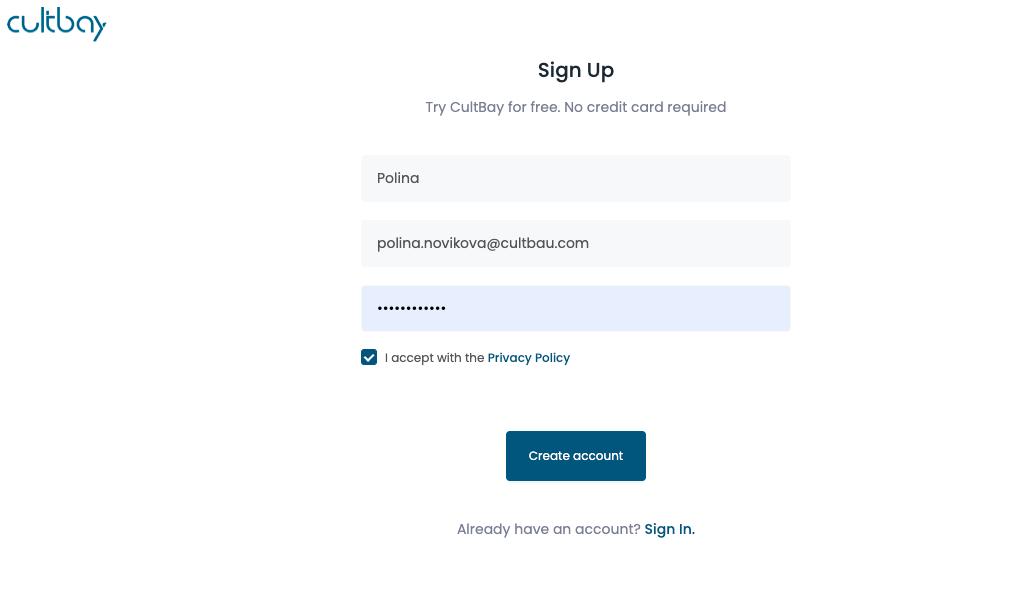 CultBay registration