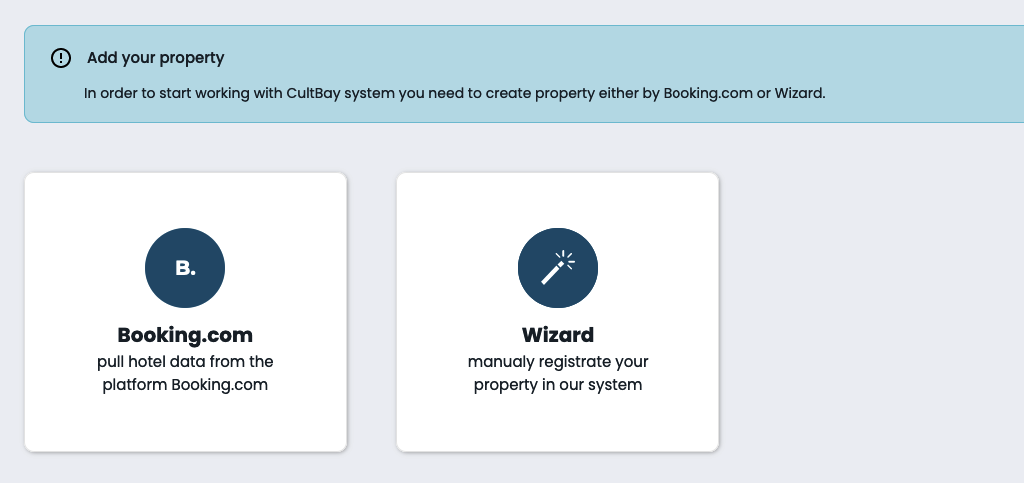 adding the Property manually by Wizard option